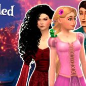 TANGLED: RAPUNZEL, FLYNN AND MOTHER GOTHEL